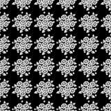 Het naadloze donkere madeliefje bloeit achtergrond stock illustratie