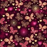 Het naadloze donkere patroon van Valentine stock illustratie
