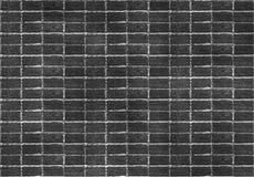 Het naadloze donkere zwarte bekwame patroon van de bakstenen muurtegel Ongelijke vorm Voor binnenlands, geeft de buitenkant mater stock afbeelding