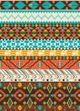 Het naadloze geometrische patroon van Navajo Royalty-vrije Stock Fotografie