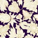 Het naadloze gouden patroon van Paisley oriënteer ontwerp Illustratie royalty-vrije illustratie