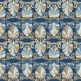 Het naadloze Griekse patroon van de Jugendstil Royalty-vrije Stock Afbeelding