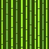 Het naadloze groene natuurlijke retro patroon van het bamboe. Royalty-vrije Stock Foto's