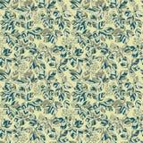 Het naadloze groene patroon van de bladerenherfst Royalty-vrije Stock Foto's