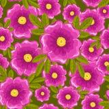 Het naadloze groene patroon van Dogrose. Stock Foto's