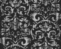 Het naadloze Grungy Patroon van het Behang Stock Afbeelding