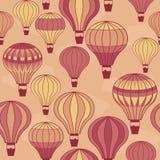 Het naadloze hete luchtballons drijven Royalty-vrije Stock Afbeeldingen