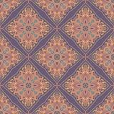 Het naadloze Indische bloemenpatroon van Paisley Etnisch mandalaornament Uitstekend decoratief rond elementen en kantkader Terugg Stock Fotografie