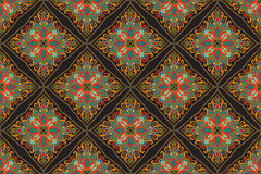 Het naadloze Indische bloemenpatroon van Paisley Etnisch mandalaornament Uitstekend decoratief rond elementen en kantkader Terugg Royalty-vrije Stock Fotografie
