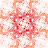 Het naadloze ingewikkelde beige oranje viooltje van het cirkelspatroon Stock Afbeelding