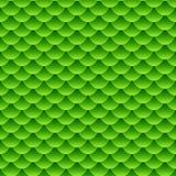 Het naadloze kleine groene patroon van de vissenschaal Stock Afbeeldingen