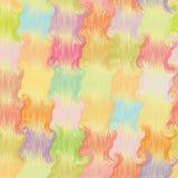 Het naadloze kleurrijke patroon van het grunge golvende dekbed Royalty-vrije Stock Afbeeldingen