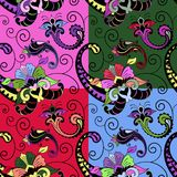 Het naadloze kleurrijke patroon van Paisley Stock Foto's