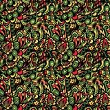Het naadloze kleurrijke vectorpatroon van Paisley Stock Fotografie