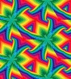 Het naadloze Kleurrijke Veelhoekige Geometrische Patroon die naar het Centrum verminderen leidt tot de illusie van diepte en volu Royalty-vrije Stock Afbeelding