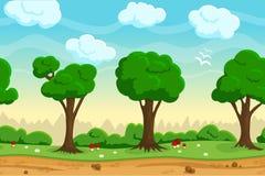 Het naadloze landschap van het beeldverhaalspel Stock Afbeeldingen
