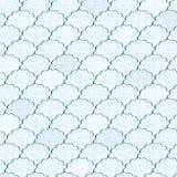 Het naadloze Lichtblauwe en Witte Pluizige Patroon van de Wolk Royalty-vrije Stock Foto