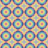 Het naadloze moderne heldere patroon van de mozaïekcaleidoscoop Stock Afbeeldingen