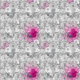 Het naadloze moderne patroon met rozen Royalty-vrije Stock Fotografie