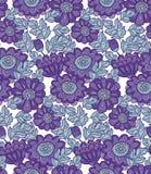 Het naadloze ontwerp van de chrysantenbloem Royalty-vrije Stock Afbeeldingen