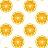 Het naadloze Oranje Patroon van het Fruit stock illustratie