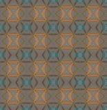 Het naadloze oranje purpere turkoois van het diamantpatroon Stock Foto's
