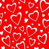 Het naadloze ornament van Valentin met harten Royalty-vrije Stock Foto