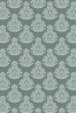 Het naadloze overzees van het damastpatroon Royalty-vrije Stock Foto