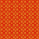Het naadloze patroon beweegt rood spiraalsgewijs stock afbeelding
