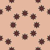 Het naadloze patroon bloeit achtergrond Stock Fotografie