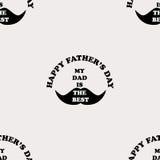 Het naadloze patroon met de inschrijving Mijn papa is het beste Royalty-vrije Stock Afbeelding