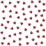 Het naadloze patroon met hart. Vector Stock Fotografie