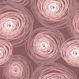 Het naadloze patroon met kleurrijke stoffige cirkels, nam kleur toe Royalty-vrije Stock Foto's