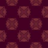 Het naadloze patroon met sier rond kantpatroon, kan voor behang worden gebruikt, vult het patroon, overladen Web-pagina achtergro Royalty-vrije Stock Afbeelding