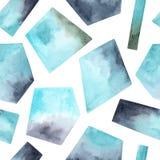 Het naadloze patroon met waterverfhand schilderde geweven geometrische vormen vector illustratie
