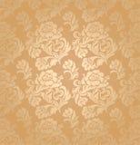 Het naadloze patroon, siert bloemen, achtergrond Royalty-vrije Stock Foto's