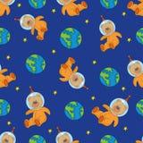 Het naadloze Patroon TEDDI is Kleuren Vectorillustratie stock illustratie