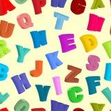Het Naadloze patroon van ABC Gekleurde brievenachtergrond Vectorillust Stock Afbeelding