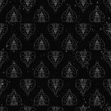 Het naadloze patroon van abstracte die cobra's op de muurachtergrond van de grungesteen worden geschilderd met vlam vonkt Stock Afbeeldingen