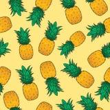 Het naadloze patroon van het ananasfruit stock illustratie