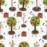 Het naadloze patroon van appelen Stock Illustratie