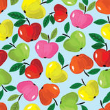 Het naadloze patroon van Apple Stock Foto
