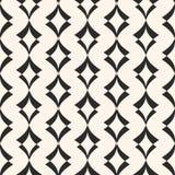 Het naadloze patroon van het art deco Geometrische textuur met gebogen vormen Stock Fotografie