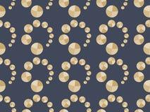 Het naadloze patroon van Art Deco met cirkels in gouden tonen Vector Royalty-vrije Stock Foto's