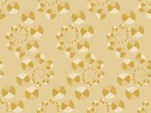 Het naadloze patroon van Art Deco met cirkels in gouden tonen Vector Royalty-vrije Stock Fotografie