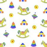 Het naadloze patroon van het babyspeelgoed vector illustratie