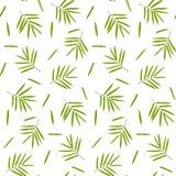 Het naadloze patroon van het bamboe Stock Afbeeldingen