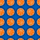 Het naadloze patroon van basketbalsporten Stock Afbeeldingen