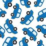 Het naadloze patroon van beeldverhaalauto's Malplaatje voor ontwerp Stock Foto's