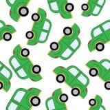Het naadloze patroon van beeldverhaalauto's Malplaatje voor ontwerp Stock Fotografie